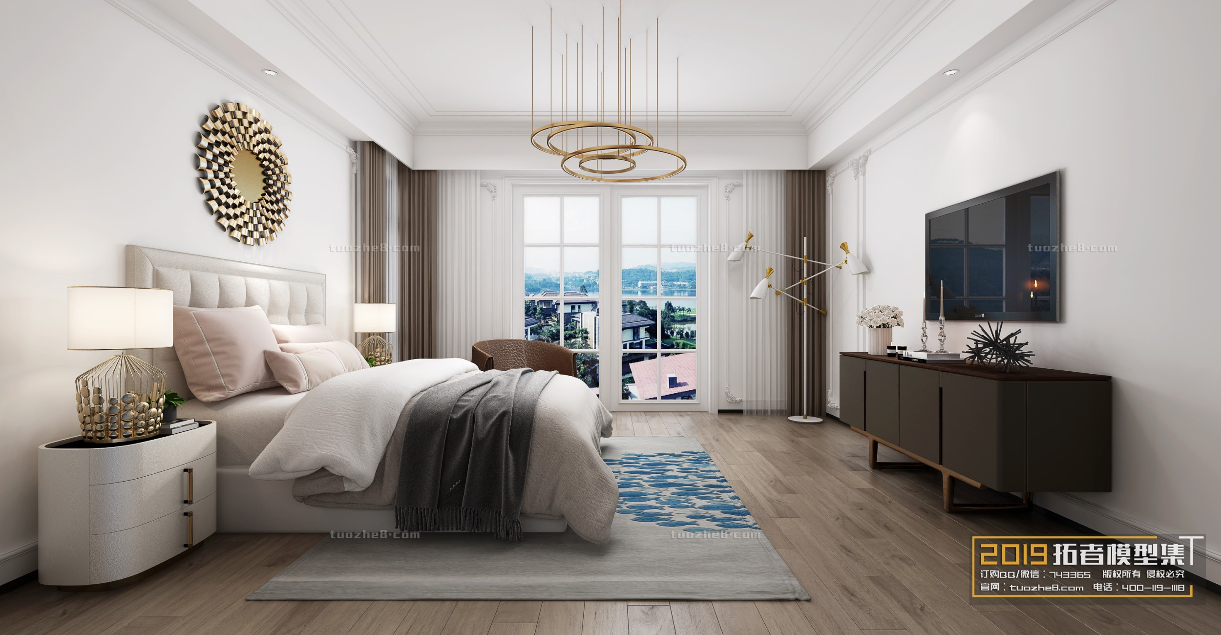 BEDROOM – AMERICAN STYLE – No.007
