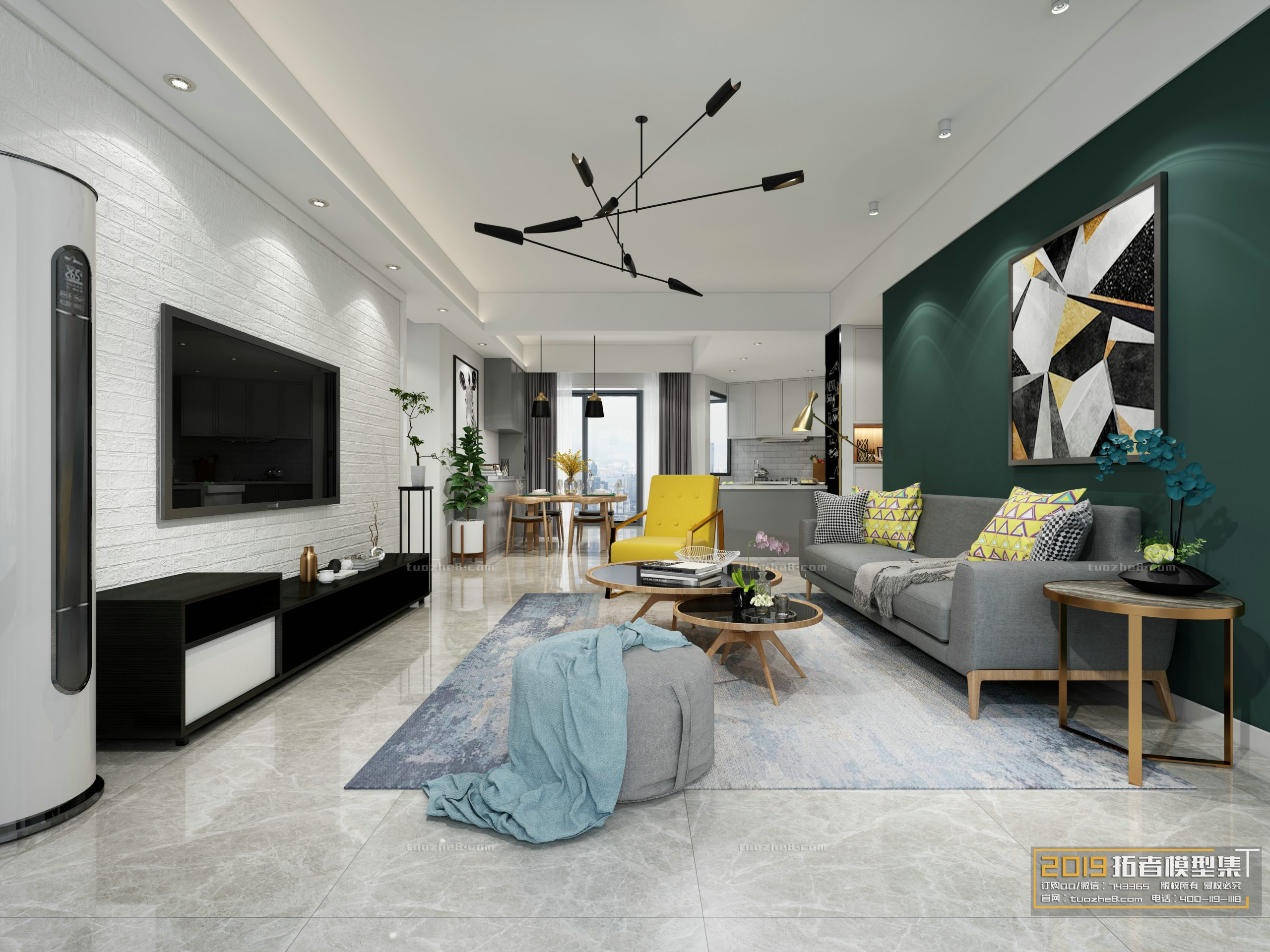 LIVING ROOM – NORDIC STYLE – No.012