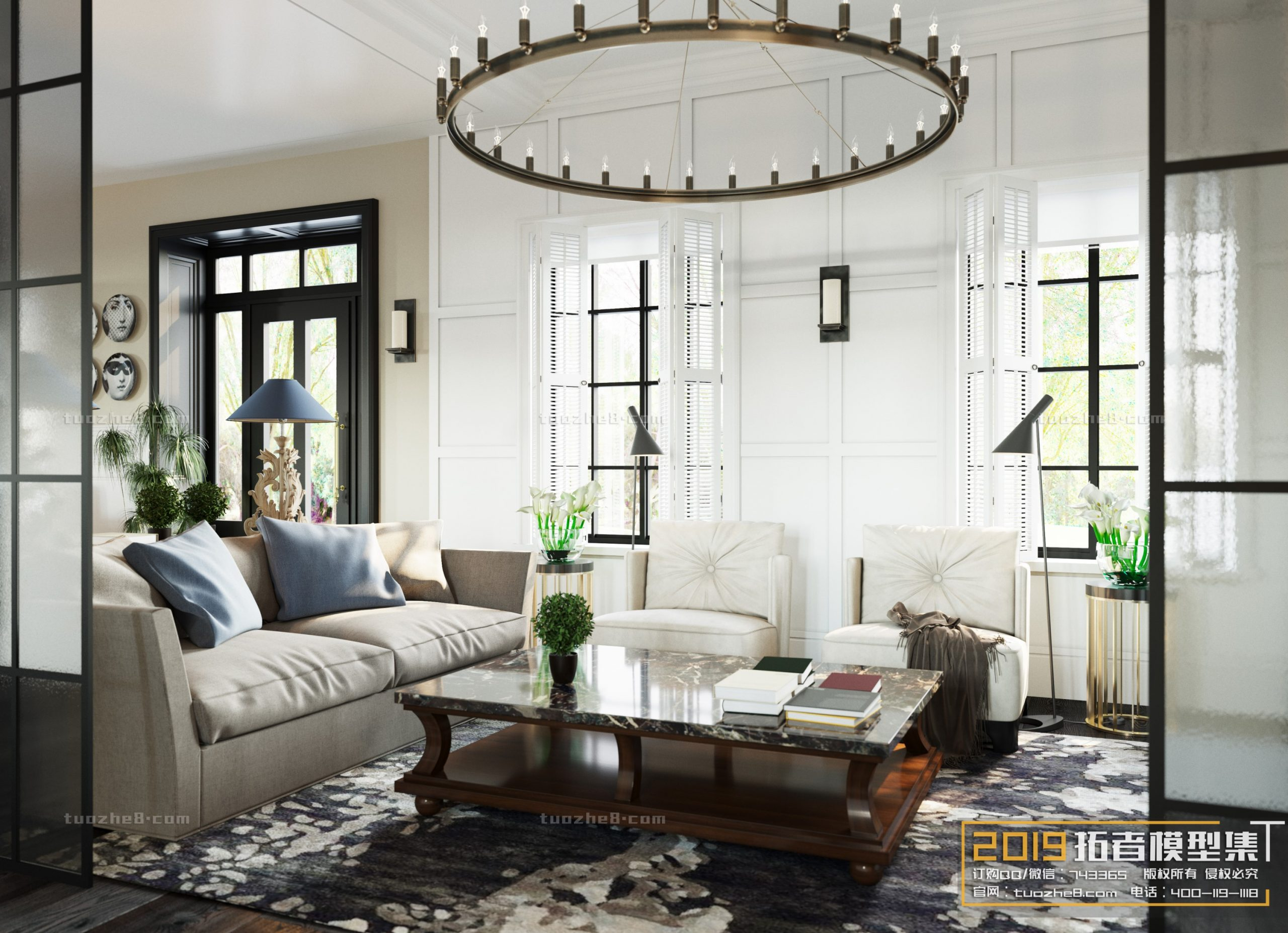 LIVING ROOM – AMERICAN STYLE – No.014