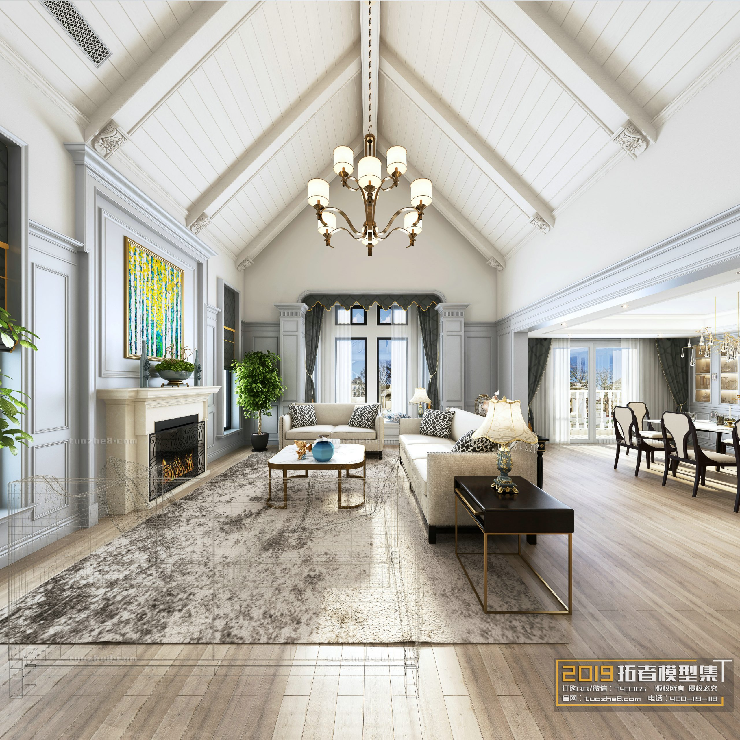LIVING ROOM – AMERICAN STYLE – No.015