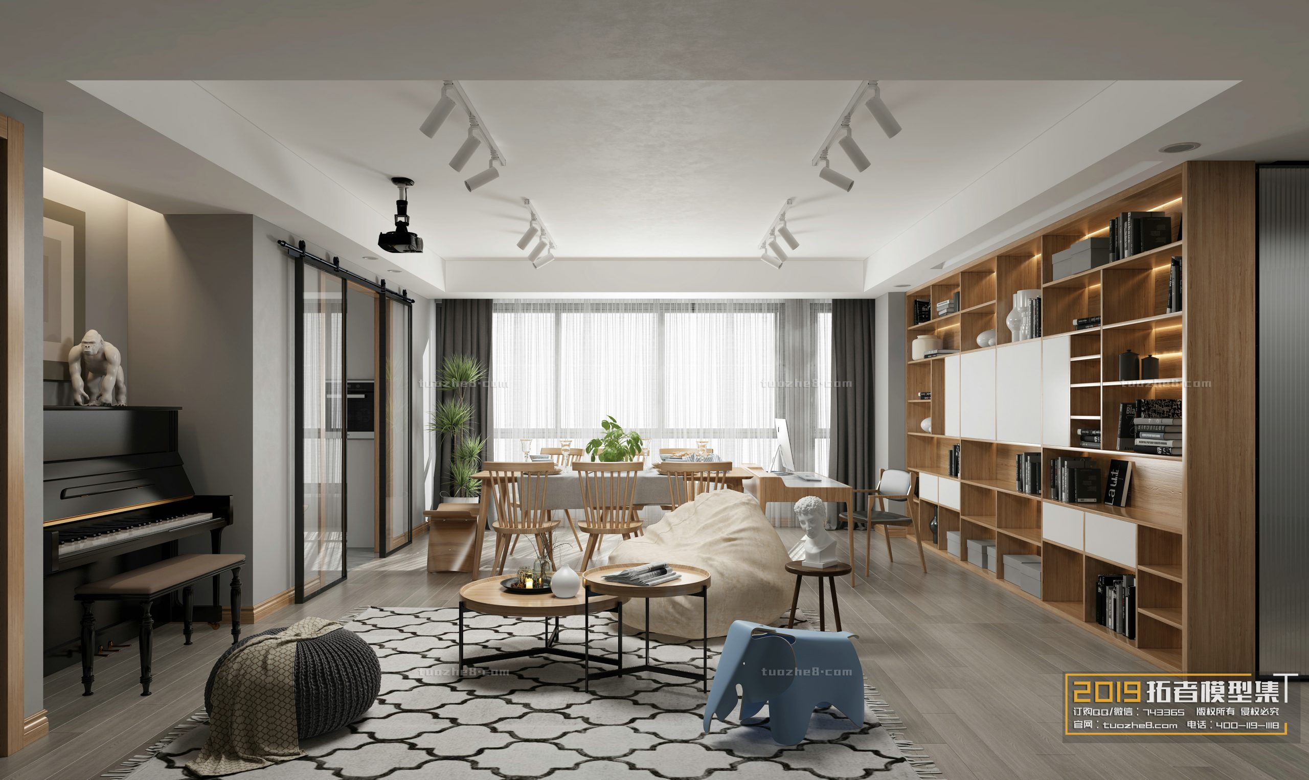 LIVING ROOM – NORDIC STYLE – No.016