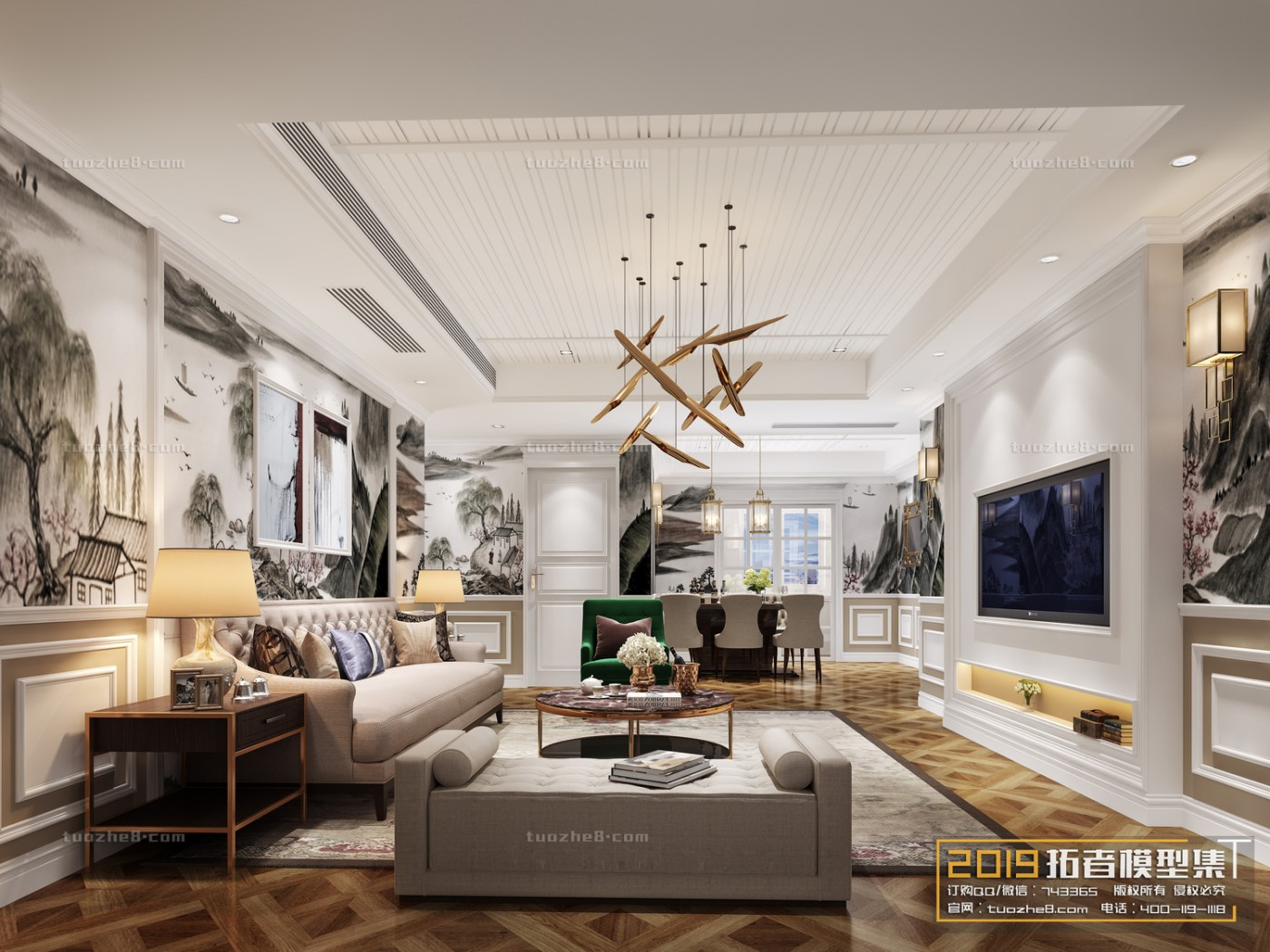 LIVING ROOM – AMERICAN STYLE – No.017