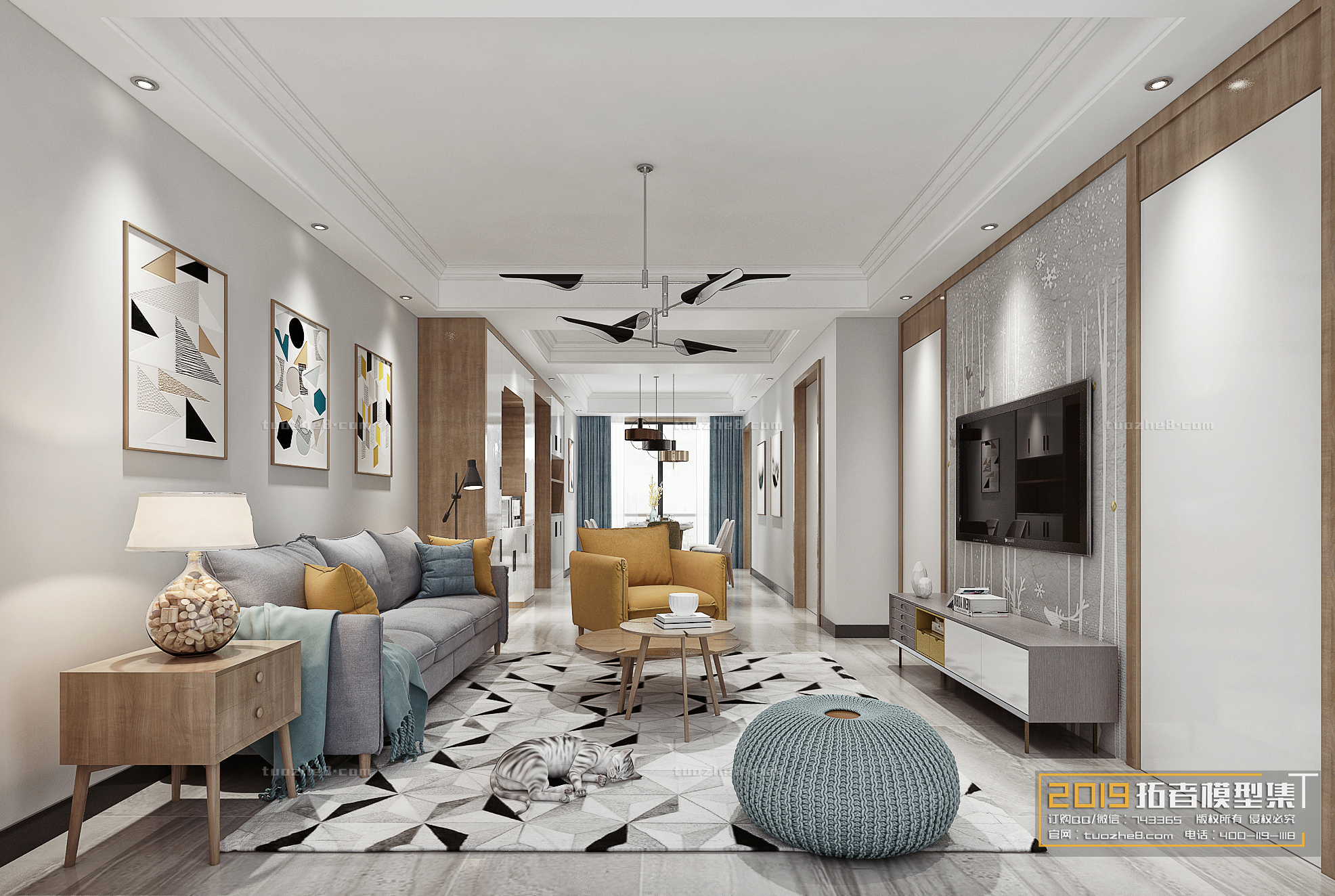 LIVING ROOM – NORDIC STYLE – No.019
