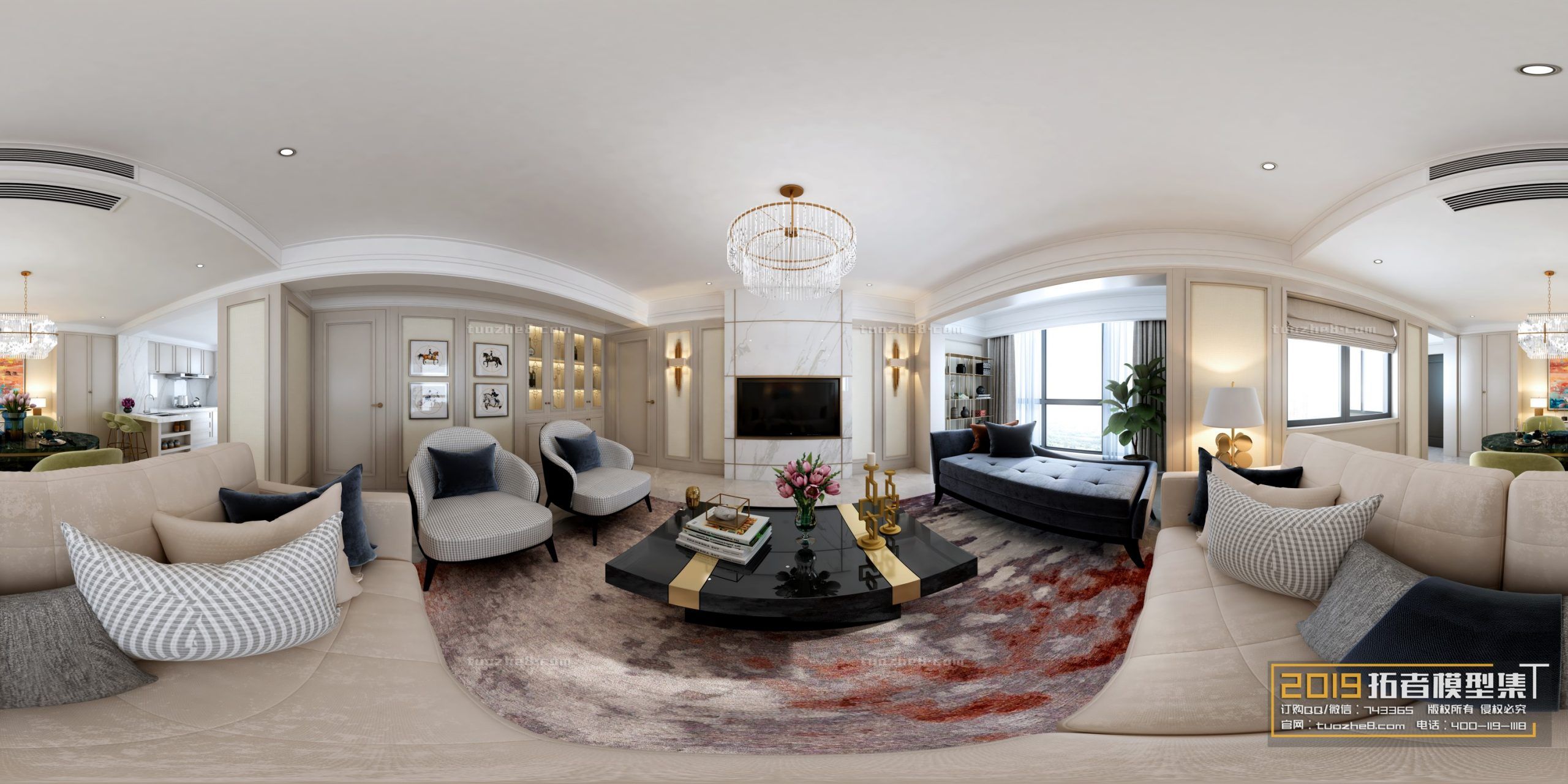 LIVING ROOM – AMERICAN STYLE – No.030