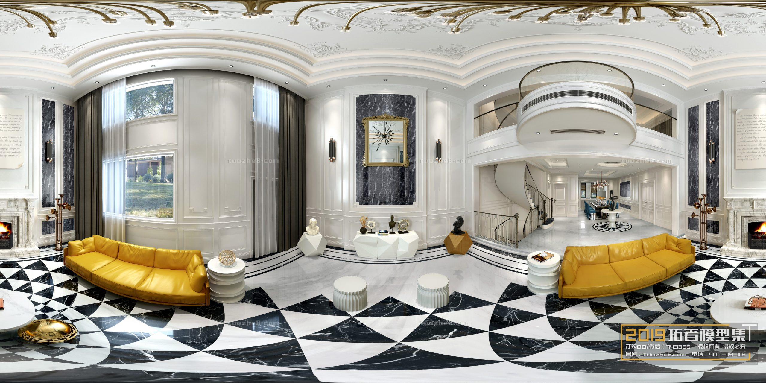LIVING ROOM – EUROPEAN STYLE – No.046