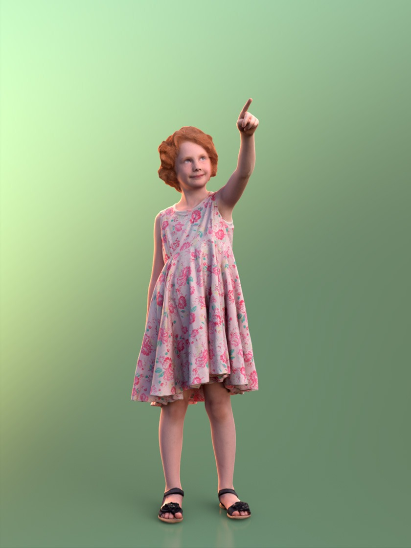 3DSKY FREE – HUMAN 3D – CHILD AND DOG – No.015