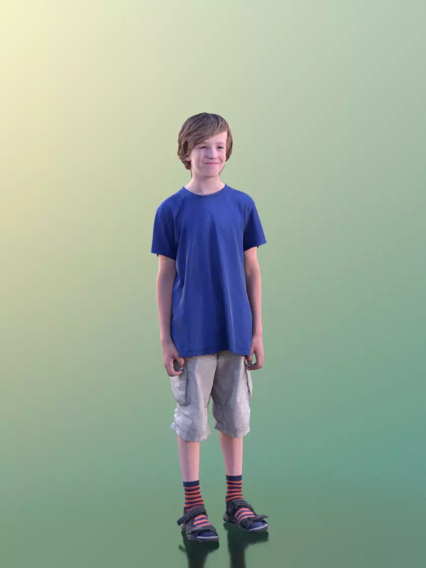 3DSKY FREE – HUMAN 3D – CHILD AND DOG – No.018