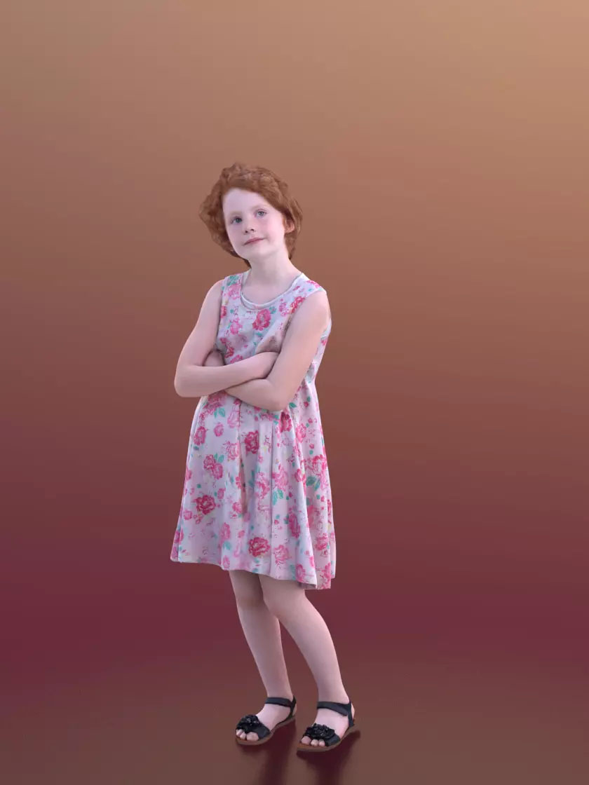 3DSKY FREE – HUMAN 3D – CHILD AND DOG – No.019