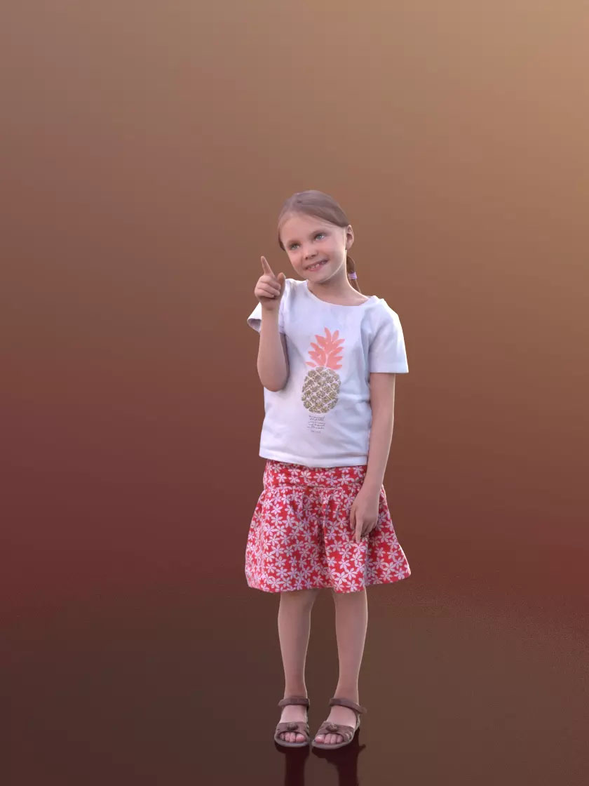 3DSKY FREE – HUMAN 3D – CHILD AND DOG – No.020