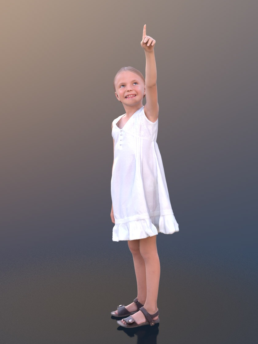 3DSKY FREE – HUMAN 3D – CHILD AND DOG – No.025