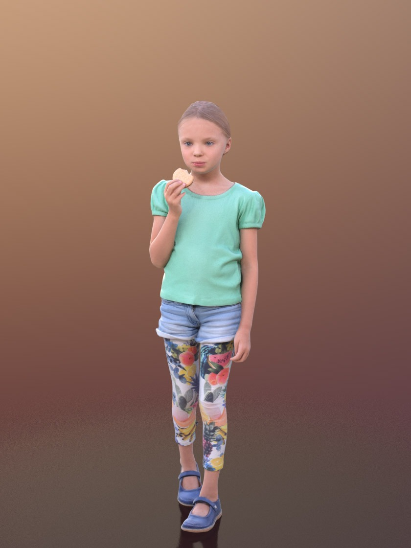 3DSKY FREE – HUMAN 3D – CHILD AND DOG – No.026