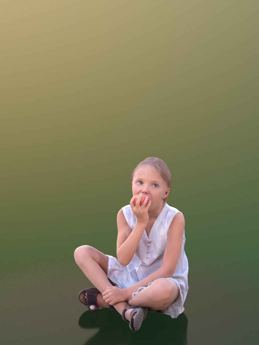3DSKY FREE – HUMAN 3D – CHILD AND DOG – No.028