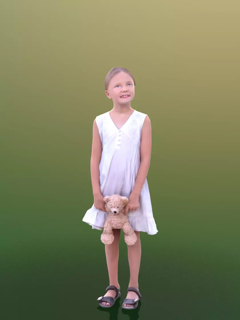 3DSKY FREE – HUMAN 3D – CHILD AND DOG – No.029