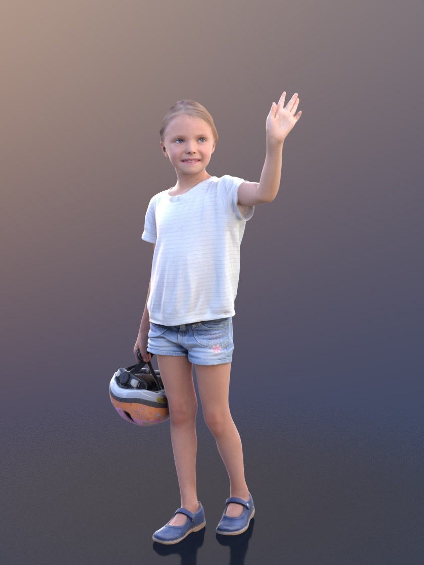 3DSKY FREE – HUMAN 3D – CHILD AND DOG – No.032