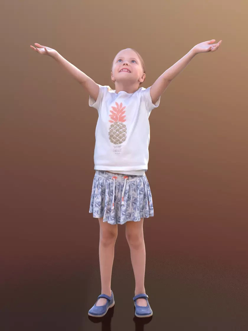 3DSKY FREE – HUMAN 3D – CHILD AND DOG – No.034