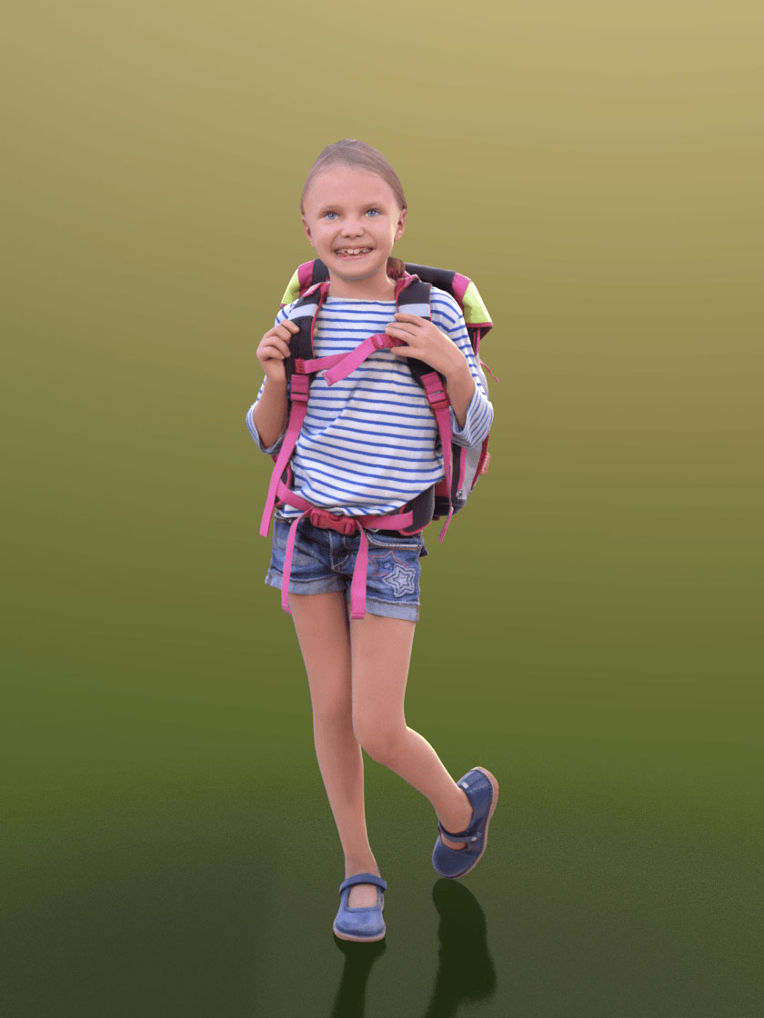 3DSKY FREE – HUMAN 3D – CHILD AND DOG – No.035