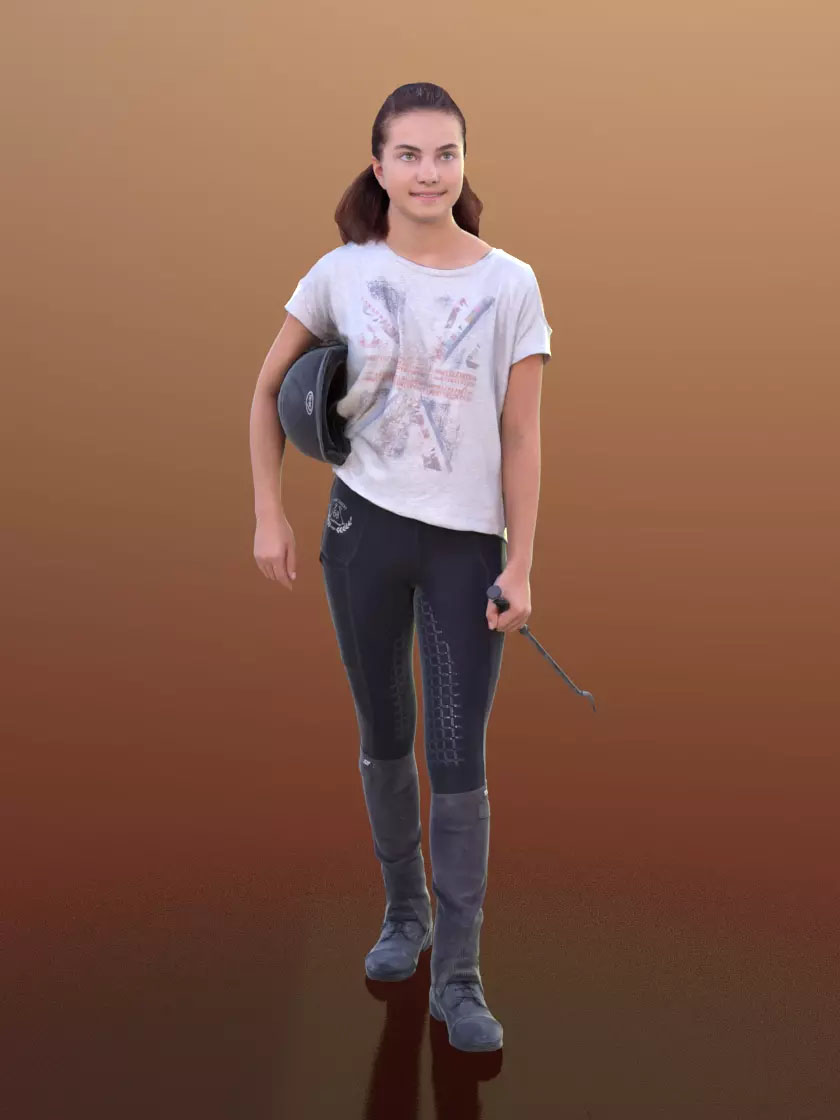 3DSKY FREE – HUMAN 3D – CHILD AND DOG – No.038