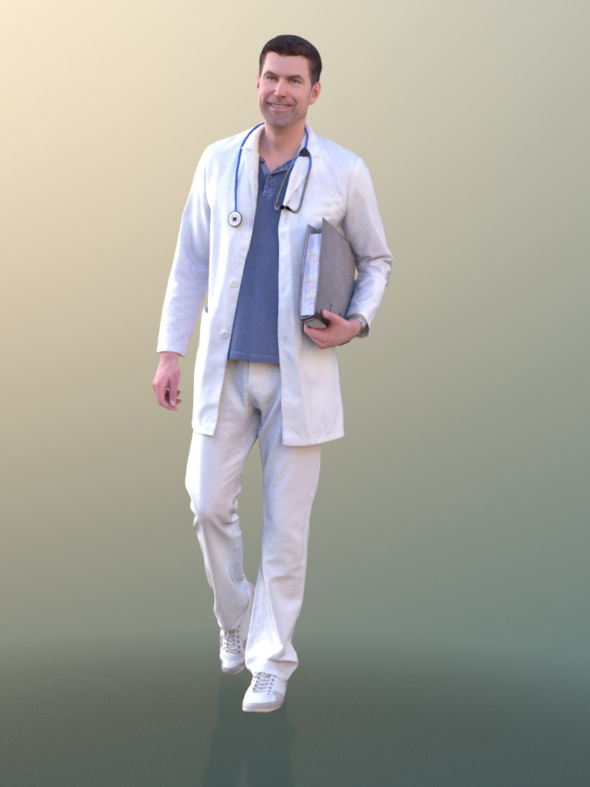 3DSKY FREE – HUMAN 3D – MEDICAL STAFF – No.007