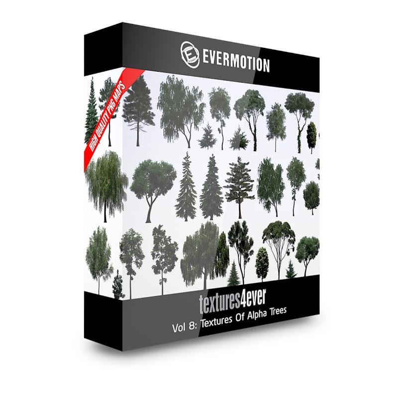 TEXTURES – Textures4ever Vol 08 – TEXTURES OF ALPHA TREES