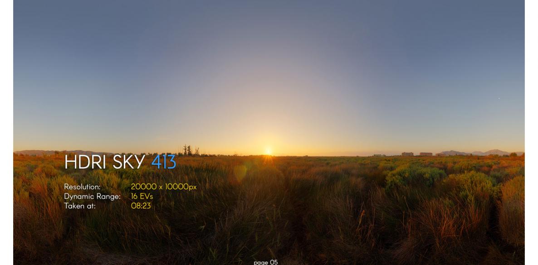 HDRI – SKIES PACK 20 – No.413