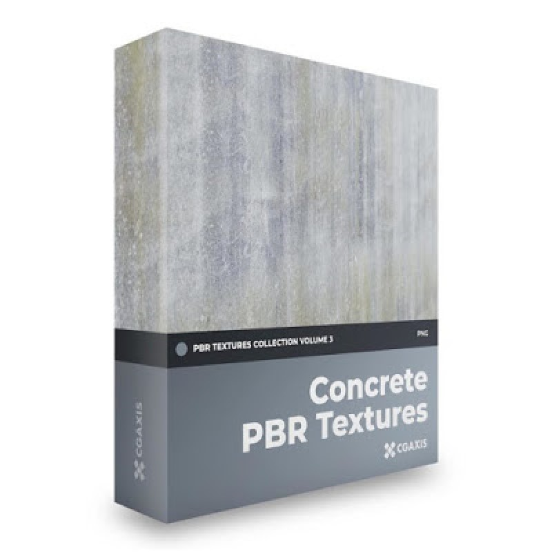 TEXTURES – CGAxis PBR Colection Vol 3 Concrete GRATIS