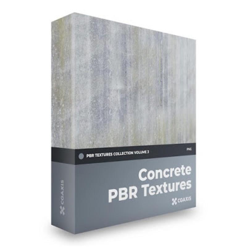 TEXTURES – CGAxis PBR Colection Vol 3 Concrete GRATIS