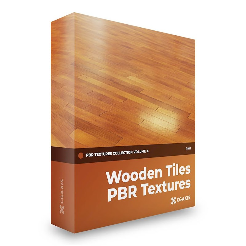 TEXTURES – CGAxis PBR Colection Vol 4 Wooden Tiles